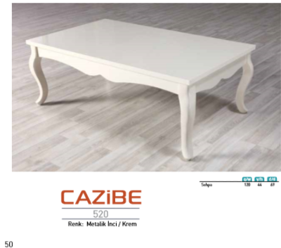 "<font color= ""navy"" > Table basse Cazibe </font>"