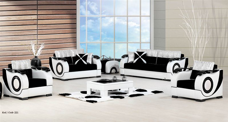 ensemble salon villa 221. Black Bedroom Furniture Sets. Home Design Ideas