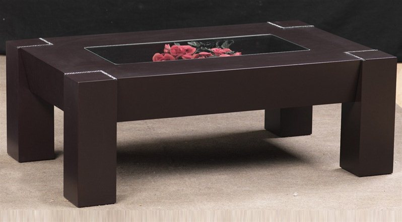 table basse inci marron. Black Bedroom Furniture Sets. Home Design Ideas