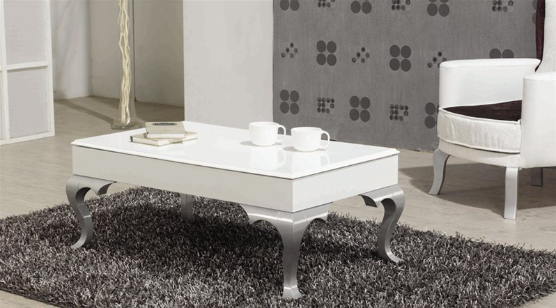 Table basse roza argent for Table basse argent