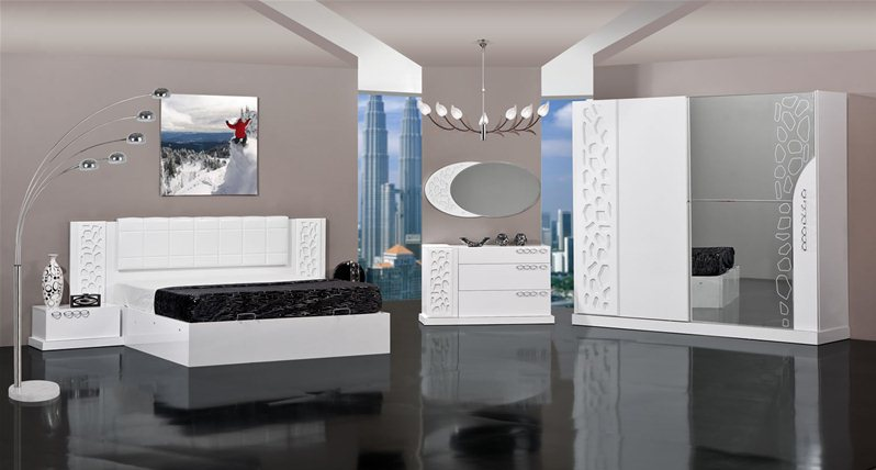 Stunning Chambre A Coucher Moderne En Mdf Turque Contemporary ...