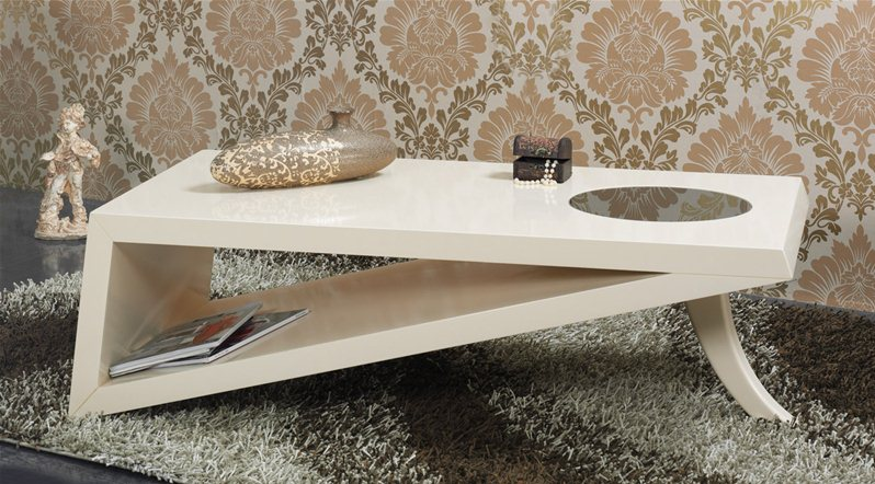 Table basse lifos beige - Table basse laquee beige ...
