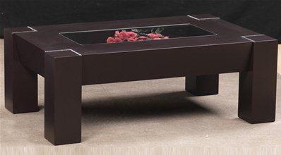 table basse inci marron. Black Bedroom Furniture Sets. Home Design Ideas