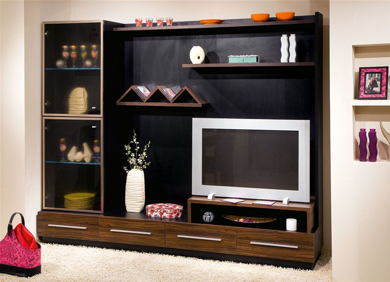 meuble tv chambre a coucher design de maison. Black Bedroom Furniture Sets. Home Design Ideas